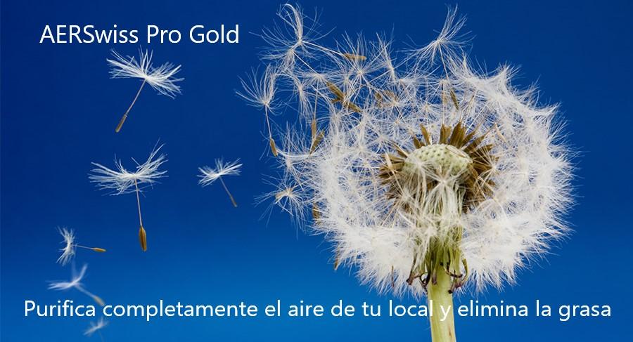 Purifica completamente el aire de tu local y elimina la grasa con AERSwiss Pro Gold